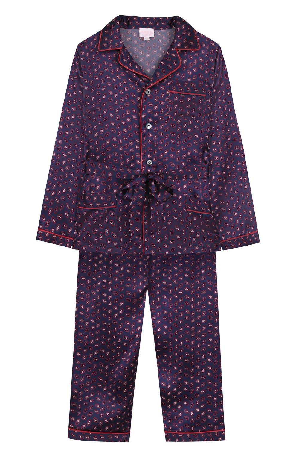 Шелковая пижама с поясом | Фото №1