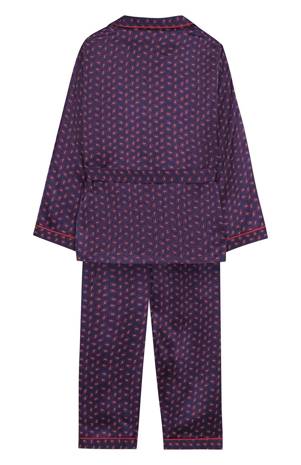 Шелковая пижама с поясом | Фото №2