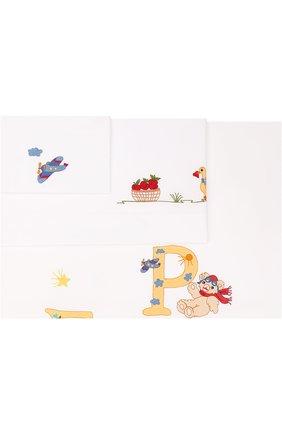 Хлопковый комплект постельного белья из трех предметов   Фото №1