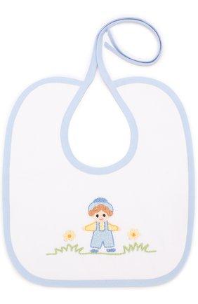 Хлопковый нагрудник с вышивкой | Фото №1