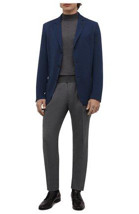 Мужской пиджак из смеси хлопка и шелка LORO PIANA темно-синего цвета, арт. FAE8388 | Фото 2