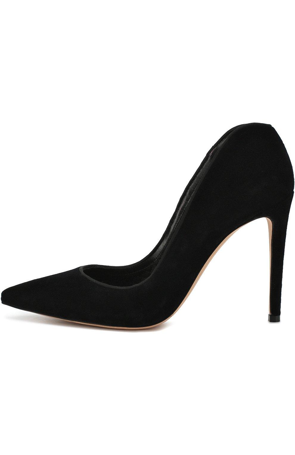 Бархатные туфли на шпильке | Фото №3