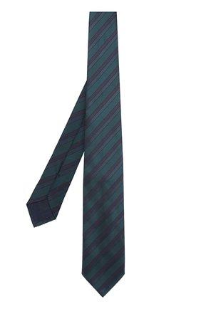 Мужской шелковый галстук в полоску BRIONI темно-зеленого цвета, арт. 062I/06497 | Фото 2