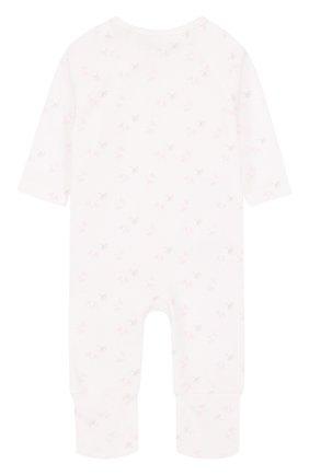 Детский хлопковый комбинезон с принтом SANETTA FIFTYSEVEN белого цвета, арт. 906446 | Фото 2