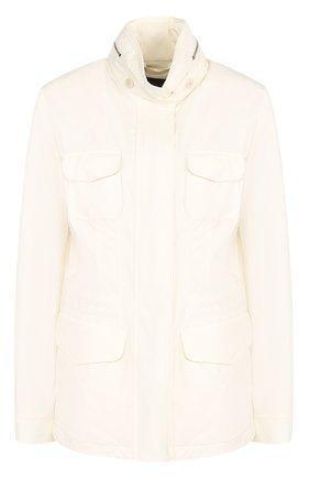 Женская куртка с капюшоном LORO PIANA белого цвета, арт. FAF8482 | Фото 1