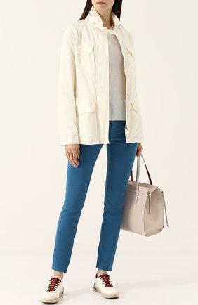 Женская куртка с капюшоном LORO PIANA белого цвета, арт. FAF8482 | Фото 2