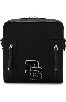 Текстильная сумка-планшет Vulcano с кожаной отделкой | Фото №1