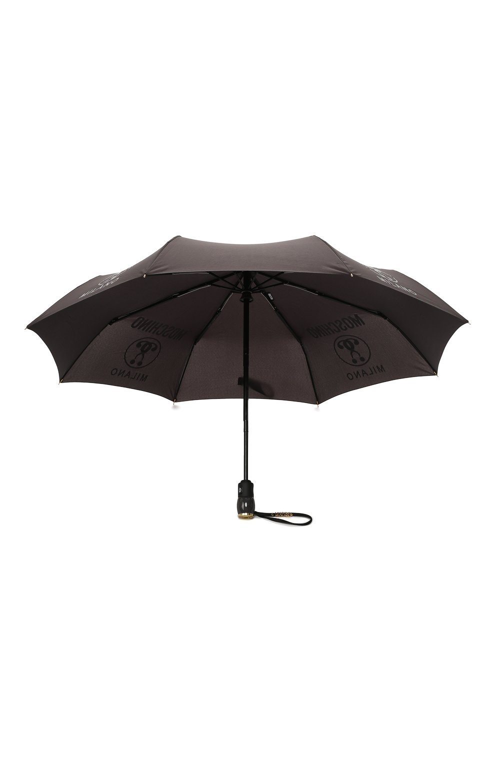 Складной зонт с принтом Moschino темно-серый | Фото №3
