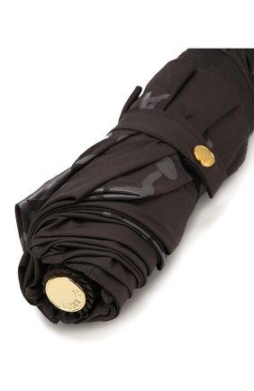 Складной зонт с принтом Moschino темно-серый | Фото №6