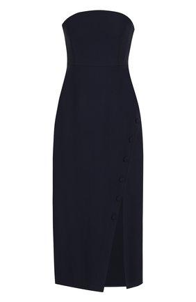 Однотонное платье-бюстье с разрезом | Фото №1