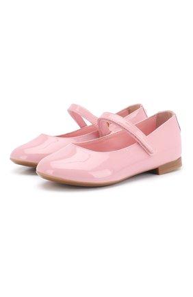 Детские балетки из лаковой кожи DOLCE & GABBANA светло-розового цвета, арт. D10699/A1328/24-28 | Фото 1