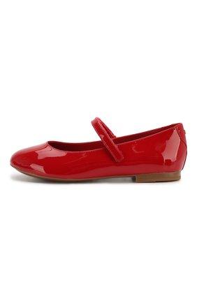 Детские кожаные балетки DOLCE & GABBANA красного цвета, арт. D10699/A1328/29-36 | Фото 2