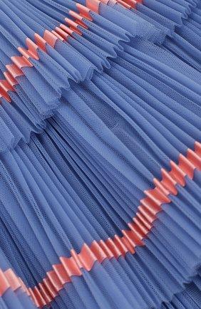 Многослойная юбка с плиссированными оборками и контрастной отделкой | Фото №3