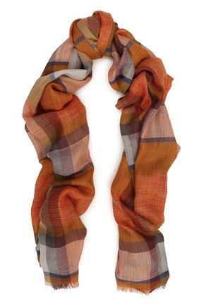 Мужской шарф из смеси кашемира и шелка LORO PIANA бежевого цвета, арт. FAI0726 | Фото 1