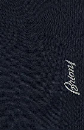 Мужские хлопковые носки BRIONI синего цвета, арт. 0VMC00/P3Z19 | Фото 2