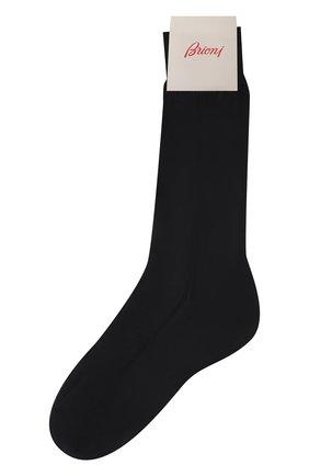 Мужские шелковые носки BRIONI темно-синего цвета, арт. 0VMC00/P3Z21 | Фото 1