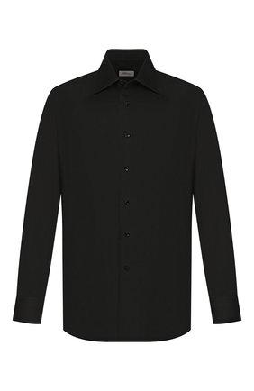 Мужская сорочка из смеси хлопка и шелка BRIONI черного цвета, арт. RCL940/0Z006 | Фото 1