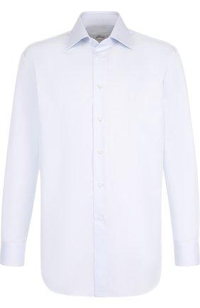Мужская хлопковая сорочка с воротником кент BRIONI светло-голубого цвета, арт. RCL98K/PZ003 | Фото 1