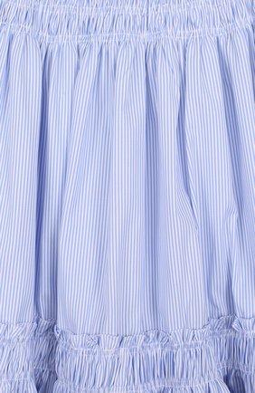 Хлопковая юбка-миди свободного кроя в полоску | Фото №3