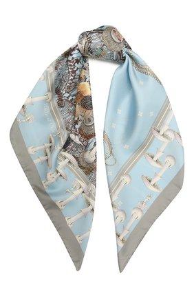 Женский шелковый платок podium RADICAL CHIC голубого цвета, арт. 142892.21.02   Фото 1
