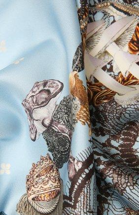 Женский шелковый платок podium RADICAL CHIC голубого цвета, арт. 142892.21.02   Фото 2