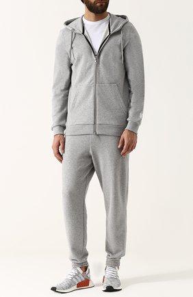 Хлопковая толстовка NikeLab Made In Italy на молнии с капюшоном NikeLab серый   Фото №1