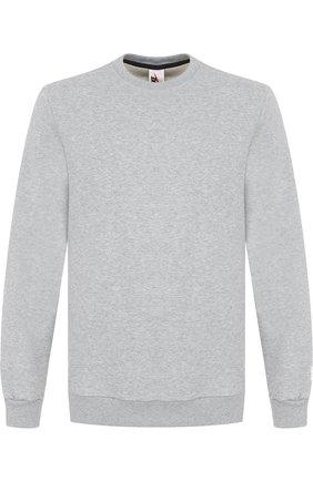 Однотонный хлопковый свитшот NikeLab Made In Italy NikeLab серый   Фото №1