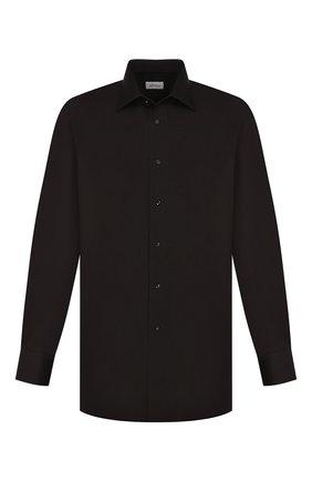 Мужская хлопковая сорочка с воротником кент BRIONI черного цвета, арт. RCL99K/PZ016 | Фото 1