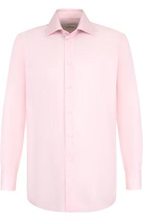 Мужская хлопковая сорочка с воротником кент BRIONI светло-розового цвета, арт. RCL99Q/PZ014 | Фото 1