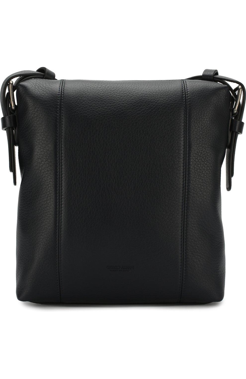 6dcd24a47cd3 Мужская темно-синяя кожаная сумка-планшет GIORGIO ARMANI — купить за ...