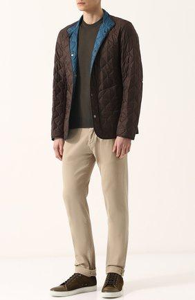 Двусторонняя стеганая куртка на кнопках | Фото №2