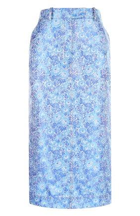 Жаккардовая юбка-карандаш с карманами | Фото №1
