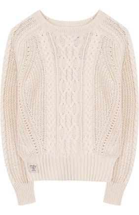 Пуловер фактурной вязки   Фото №1