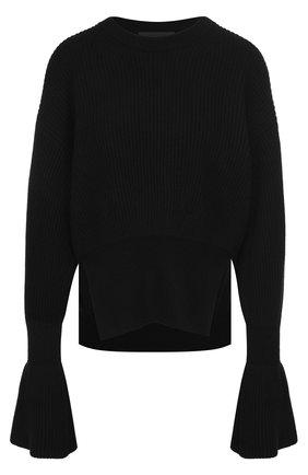 Пуловер из смеси шерсти и кашемира фактурной вязки