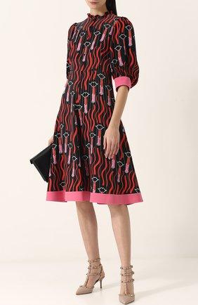 Женская кожаные туфли valentino garavani rockstud с ремешками на шпильке VALENTINO бежевого цвета, арт. PW2S0375/VCE | Фото 2