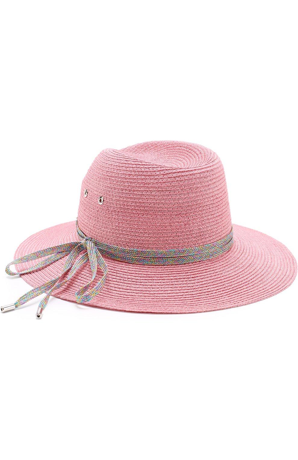 Шляпа Virginie с декоративной лентой Maison Michel розового цвета | Фото №2