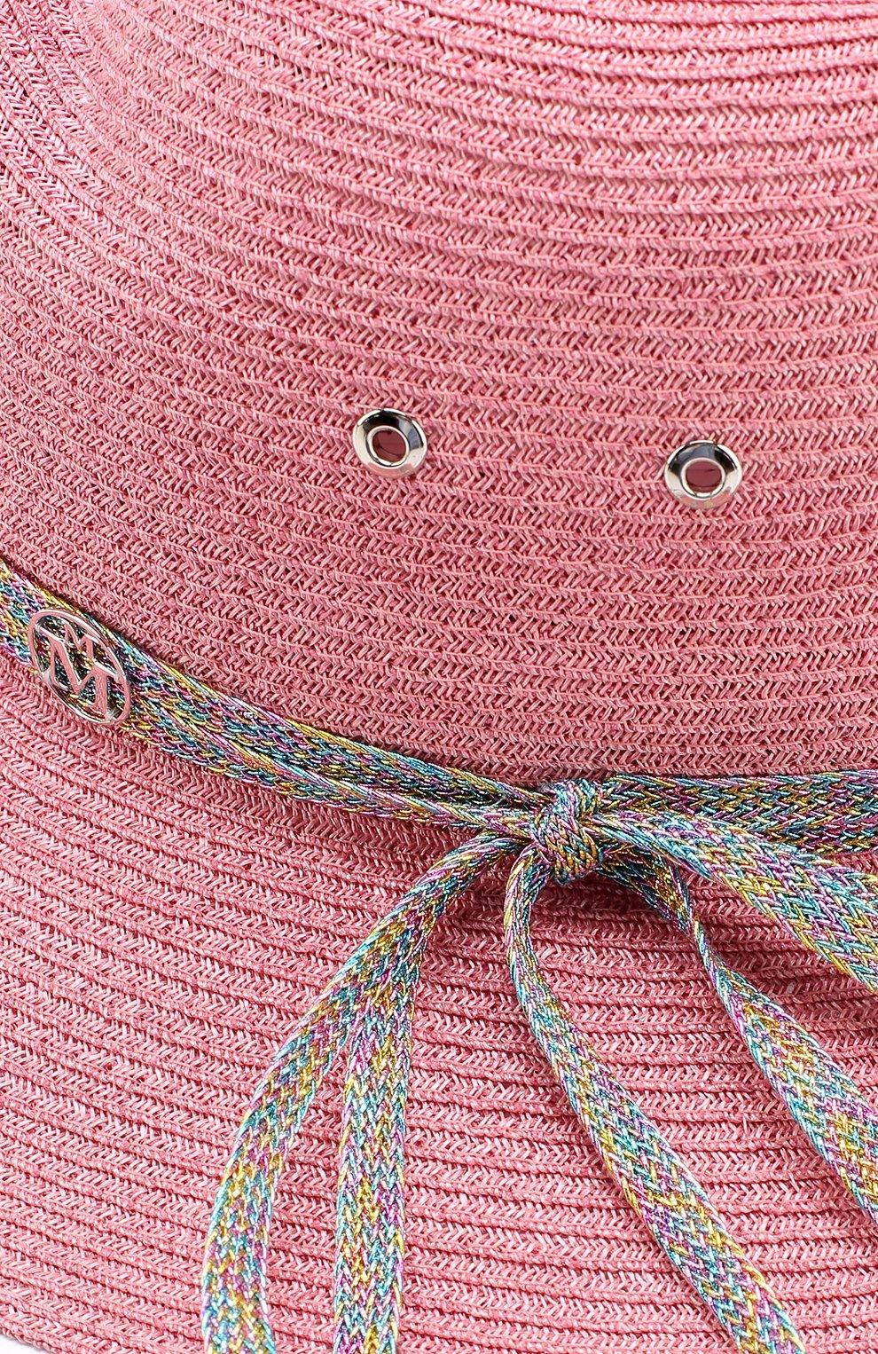 Шляпа Virginie с декоративной лентой Maison Michel розового цвета | Фото №3