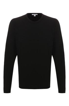 Мужская хлопковый лонгслив JAMES PERSE черного цвета, арт. MXA3278 | Фото 1
