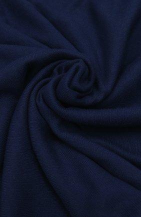Мужской шарф unique из шерсти викуньи LORO PIANA синего цвета, арт. FAF0705 | Фото 2