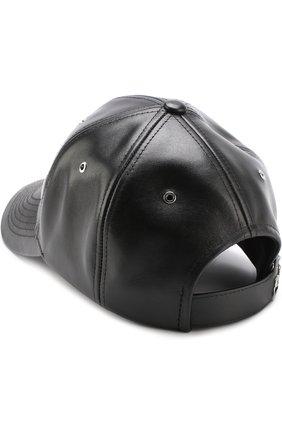 Мужской кожаная бейсболка с логотипом бренда KENZO черного цвета, арт. 5AC500L47 | Фото 2