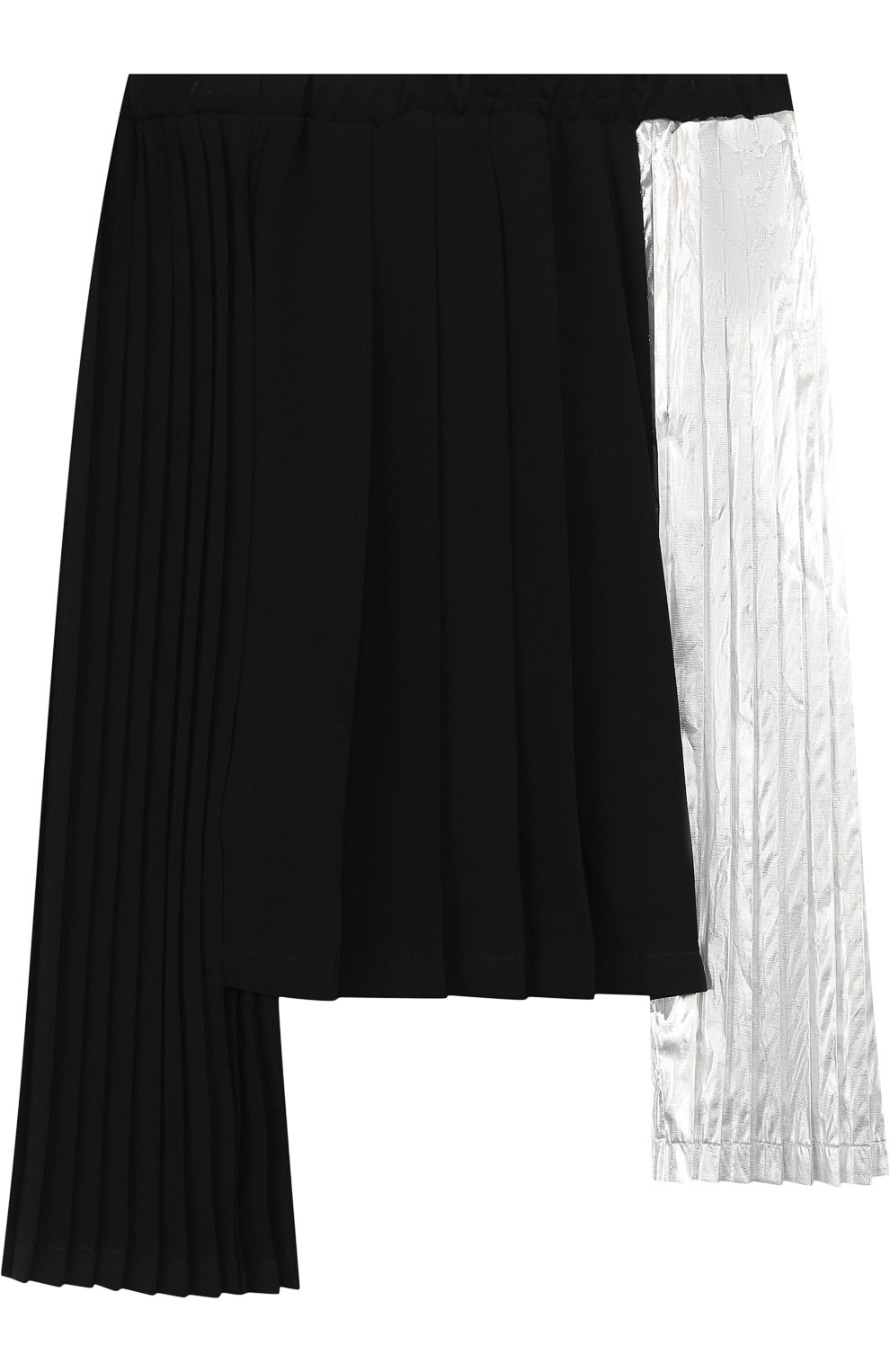 Юбка асимметричного кроя с плиссированными вставками   Фото №2