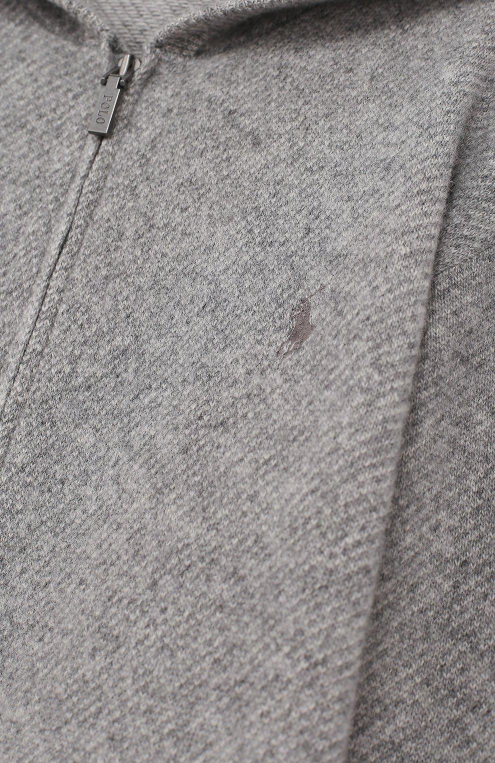 Кардиган из смеси шерсти и кашемира с капюшоном и на молнии | Фото №3