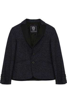 Однобортный пиджак из смеси хлопка и шерсти | Фото №1