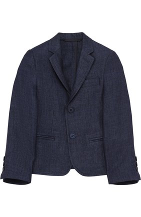 Однобортный льняной пиджак | Фото №1