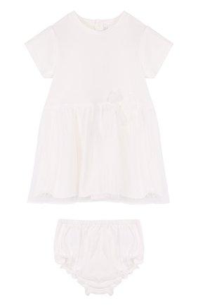 Хлопковый комплект из платья и трусов | Фото №1