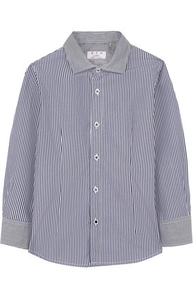 Хлопковая рубашка в полоску | Фото №1