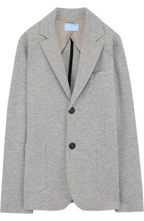 Однобортный пиджак джерси | Фото №1