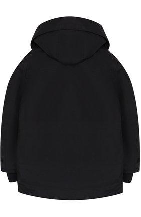 Куртка с капюшоном и накладными карманами | Фото №2