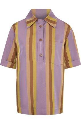 Блуза в полоску с коротким рукавом | Фото №1
