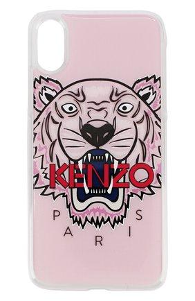Мужской чехол для iphone x с принтом tiger KENZO светло-розового цвета, арт. C0KIFXTGR | Фото 1